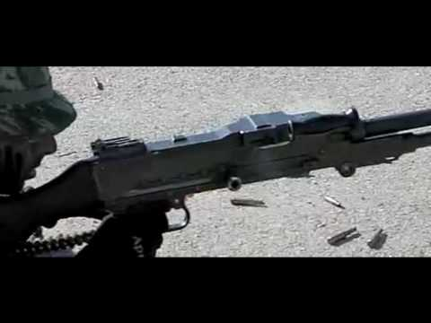 Hellenic Special Forces FN Mag, slow motion