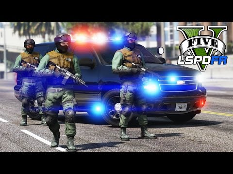 GTA 5 - LSPDFR Ep137 - Crazy FBI SWAT Patrol!!