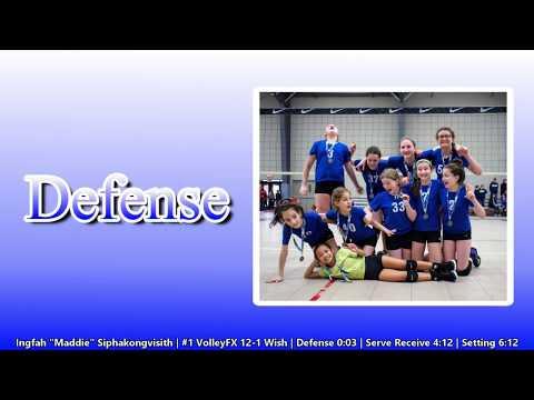 Maddie S. - 9 year old volleyball player - 2018 12U Junior Nationals Highlights