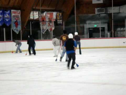 Broomball at Anaheim Ice with Dinner for 8 OC