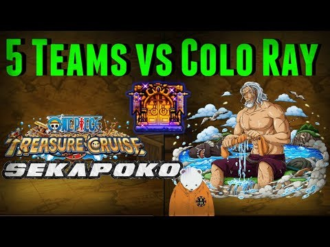 5 Teams vs Rayleigh Chaos Colosseum Fail Included | One Piece Treasure Cruise