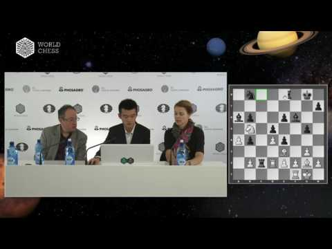 Round 9. Press conference with Ding Liren and Boris Gelfand