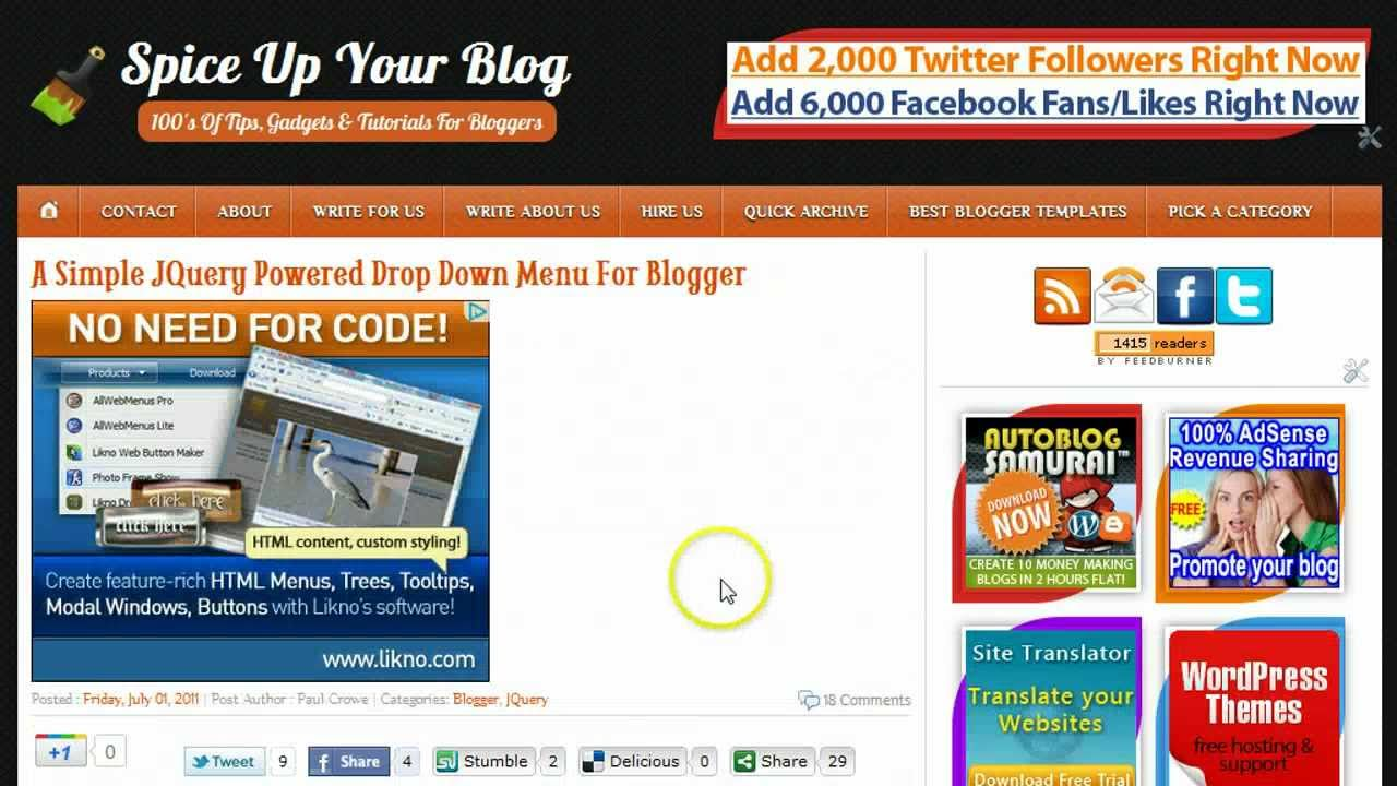Edit Template Html And Add Gadgets In The New Blogger Dashboard ...