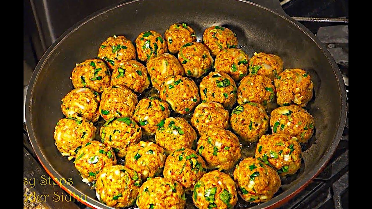 How to make Meatballs | Mutton Kofta | Beef Meatballs in ...