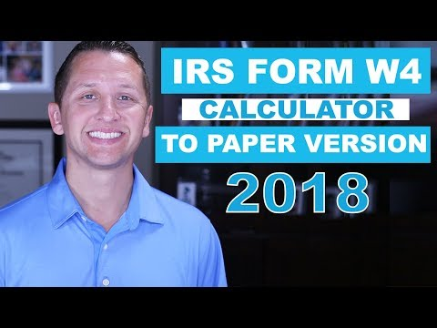 "<span class=""title"">IRS Form W4 online calculator to Paper 2018</span>"