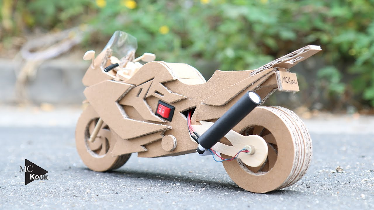 motorcycle craft ideas how to make motocycle bmw f800gt amazing cardboard 2513