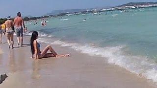 Alcudia Strand Mallorca - 07.2015 - SAU GEILER STRAND SAUBER !!!