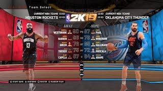 2020 NBA SEASON ROSTER UPDATED - HOUSTON ROCKETS VS OKLAHOMA THUNDER  | NBA 2K19 SIMULATION