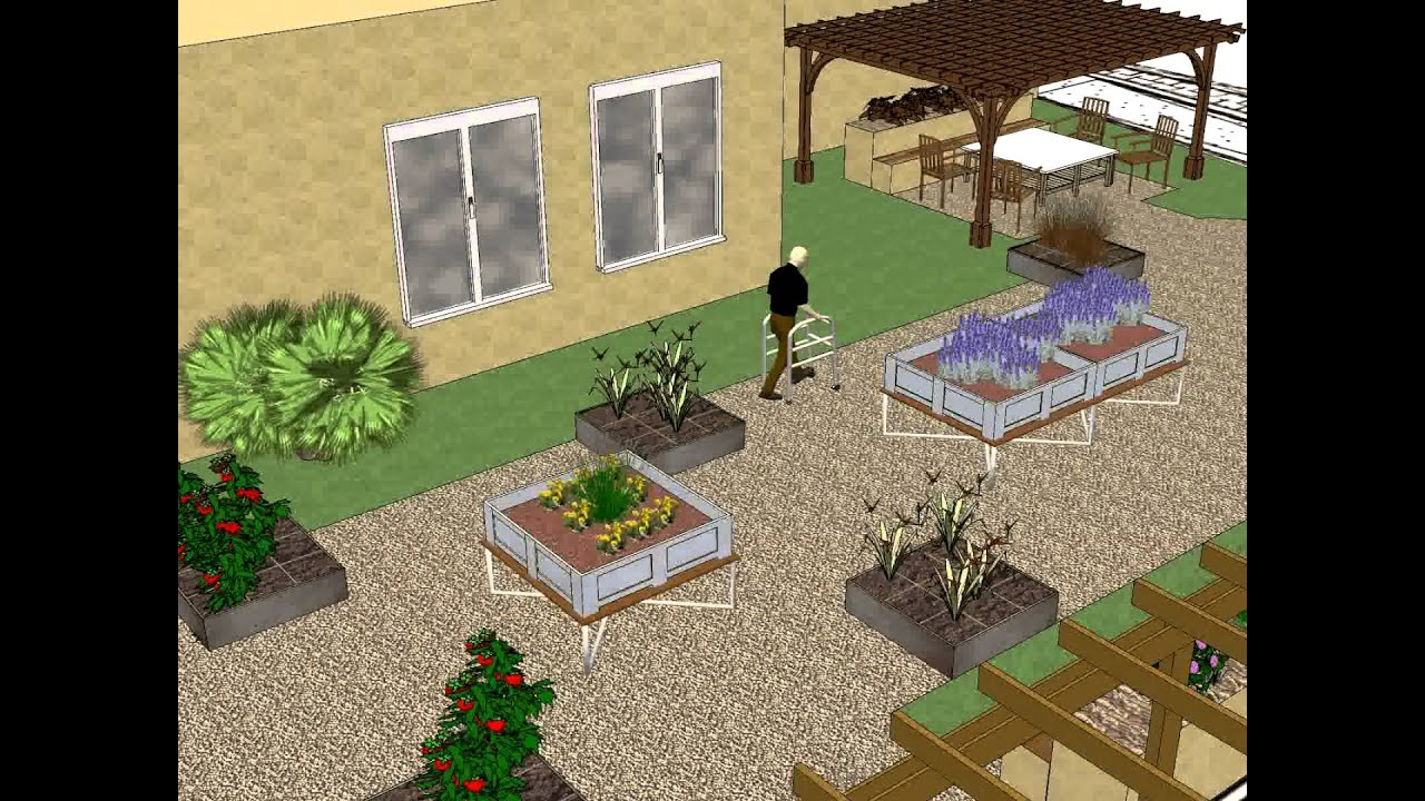 jardin th rapeutique ehpad les pergolas 3d youtube