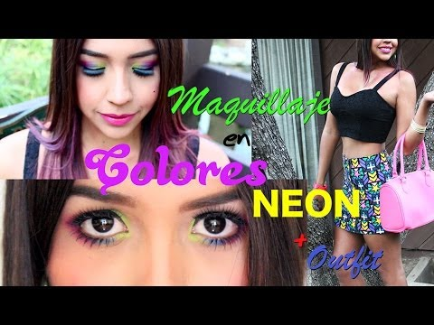 Maquillaje en Colores Neon Demi Lovato Neon Lights / Neon ...