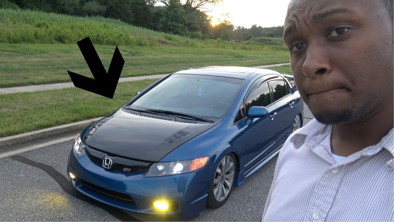 Carbon Fiber Hood Install Honda Civic Si Youtube