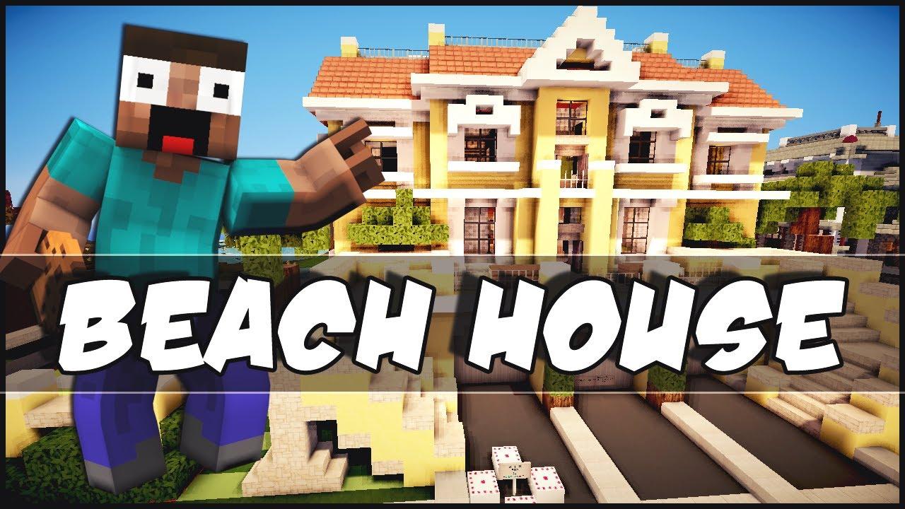 Minecraft beach house step by step the for Beach house designs minecraft