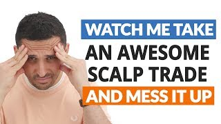 Watch Me Take a Short AUDCAD Scalp Trade (And mess it up!)