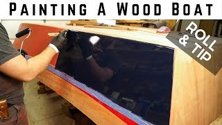 Wooden Boat Build // Part 12: Painting the Boat // Roll & Tip Method