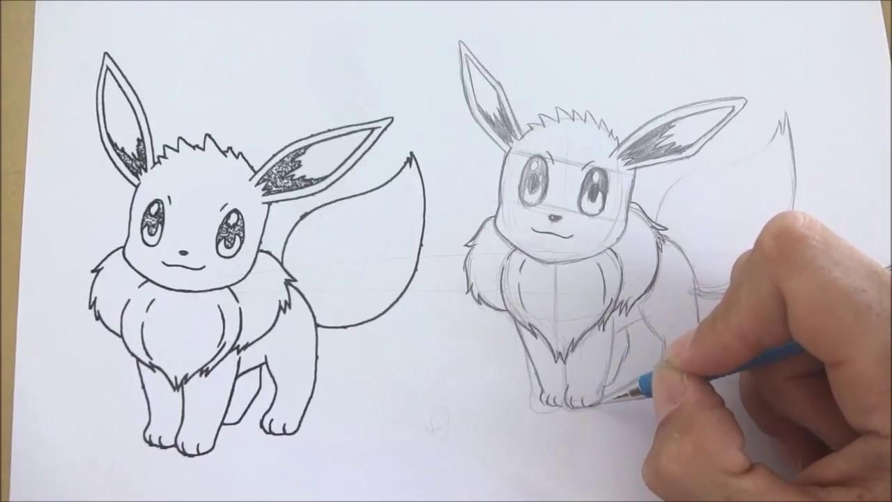 Como Desenhar Pokemon 4 Eevee Youtube