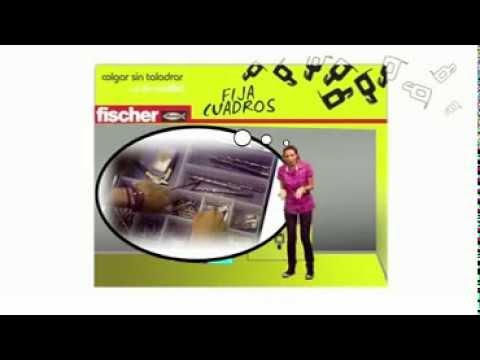 Fischer fija cuadros colgar sin taladrar youtube - Colgar sin taladrar ...
