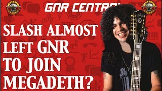 Guns N' Roses News: Slash Almost Joined Megadeth?
