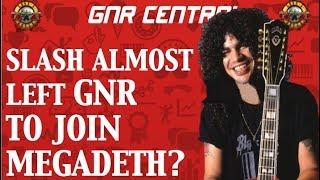 Guns N' Roses News: Slash Almost Joined Megadeth?