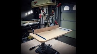 Drill Press table and Fence 8
