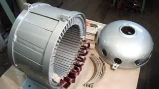Изготовление генератора мощностью 2 кВт - 200 об для гидротурбины.