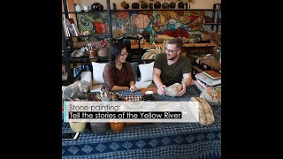 Stone painting: Tell the stories of the Yellow River