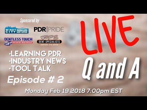 Q&A - Learning PDR, Business, Industry News, Tool  Episode #2