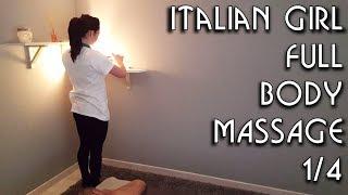 💆 Italian Girl Massage - ASMR no talking video 1/4