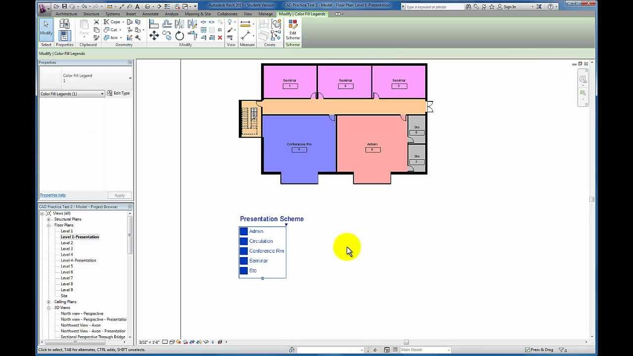 Revit Tutorials: Color Scheme