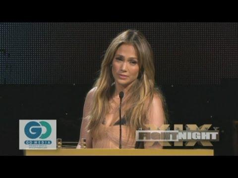 Jennifer Lopez given award by Muhammad Ali at Celebrity Fight Night XIX