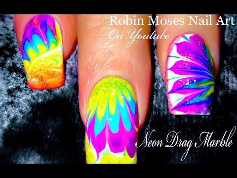 No Water Needed - Rainbow Diva DIY Drag Marble nail art Tutorial