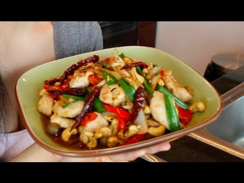 Cashew Chicken Recipe ไก่ผัดเม็ดมะม่วงหิมพานต์ - Hot Thai Kitchen