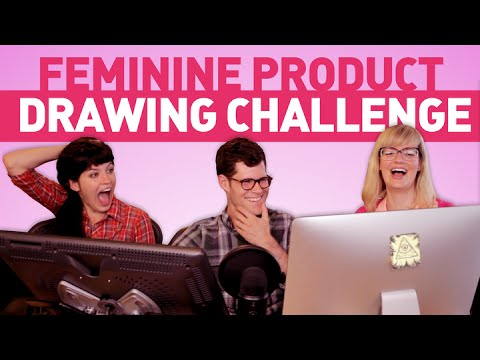 A Male Artist Tries to Draw Feminine Products (That He's Never Seen Before)