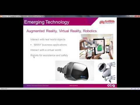 Business Innovation  enhance your expertise with ICT engagement - Webinar with Dr Leigh-Ellen Potter