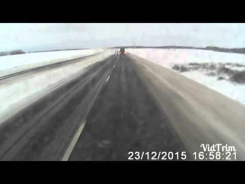 Авария. Белорус, трасса М1 декабр 2015