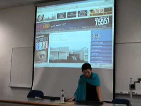 COM125 Guest Speaker: Straits Times STOMP editor - Jennifer Lewis