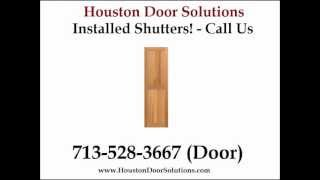 Wood Window Shutters Exterior Installed Houston - Houston Door Solutions - 713-528-3667 (door)