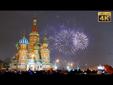 Новый Год 2015 - Салют на Красной Площади - LX100 4K - Moscow New Year 2015 Fireworks