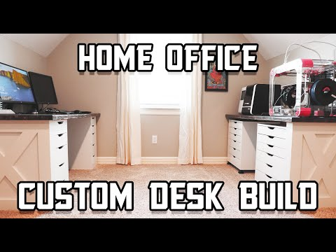 Custom Built-in Desk // Home Office Work Space