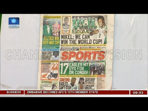 Nigeria Can Win The World Cup - Mikel | Sports This Morning |