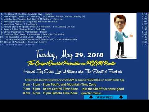 5 29 18 The Gospel Quartet Paradise With Elder Lee Williams