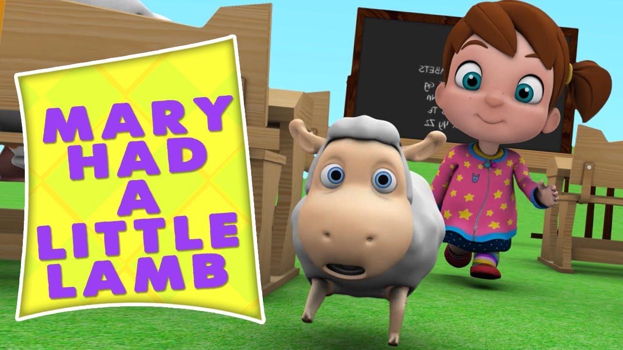 Mary Punya Domba Kecil Lagu Anak Kartun Anak