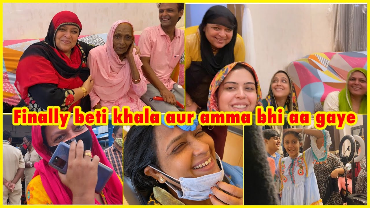 Beti khala, Amma aur mamu aa gaye 😍 | aaj khala ko Rula diya 😥 but she is happy | ibrahim family