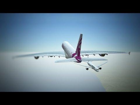 Infinite Flight Airbus A380 Qatar Airways livery - WSSS - WMKK