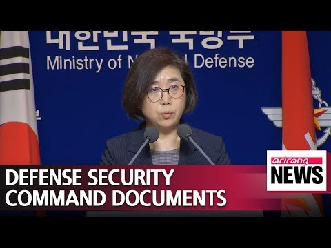 Defense minister Song decided not to disclose military intel unit's confidential documents...