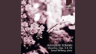 10 Mazurkas, Op. 3: No. 9, in G-Sharp Minor