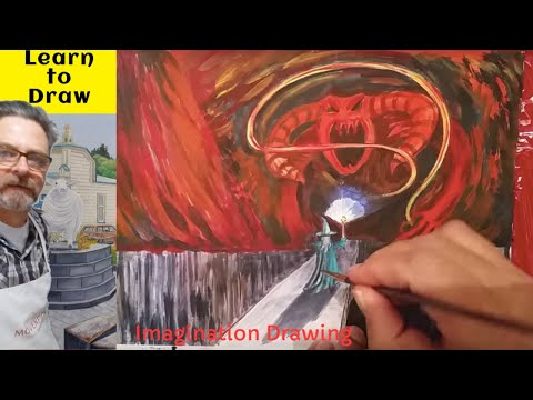 You Shall Not Pass. Imagination Painting with original music. Unexpected journey