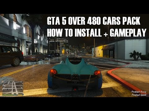 GTA 5 480 CARS PhotoRealistic PACK HOW TO INSTALL + GAMEPLAY