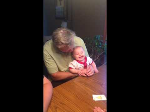 Baby Laughing Hysterically at Slapping Table