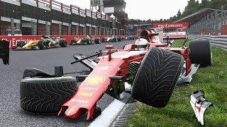 F1 2017 - Crash Compilation #2 (PC HD) [1080p60FPS]