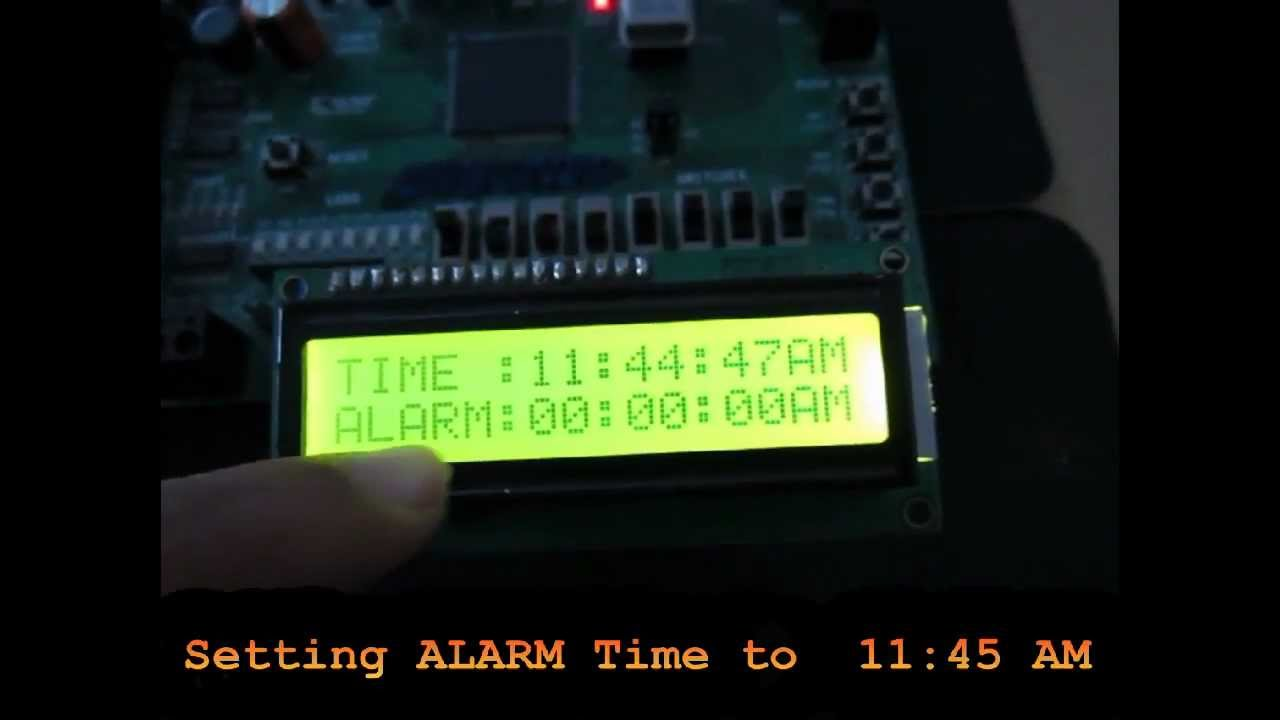 VERILOG & FPGA Project : DIGITAL CLOCK WITH ALARM AND FLEXIBLE TIME SETTING  FEATURES avi